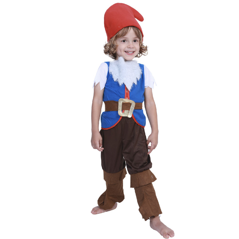 Kids Lovely Gnome Dwarf Halloween Cosplay Carnival Costume