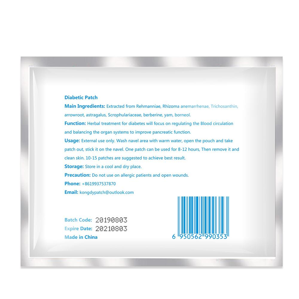 Ifory Diabetic Patch 21Pcs/3bags Herbal Diabetes Cure Lower Blood Glucose Treatment Sugar Balance Plaster Health Care 1