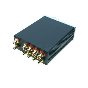 Image 5 - signal splitter 4 IN 1 OUT audio rca connector signal selector Source Selector HIFI input rca cable switcher schalter boX