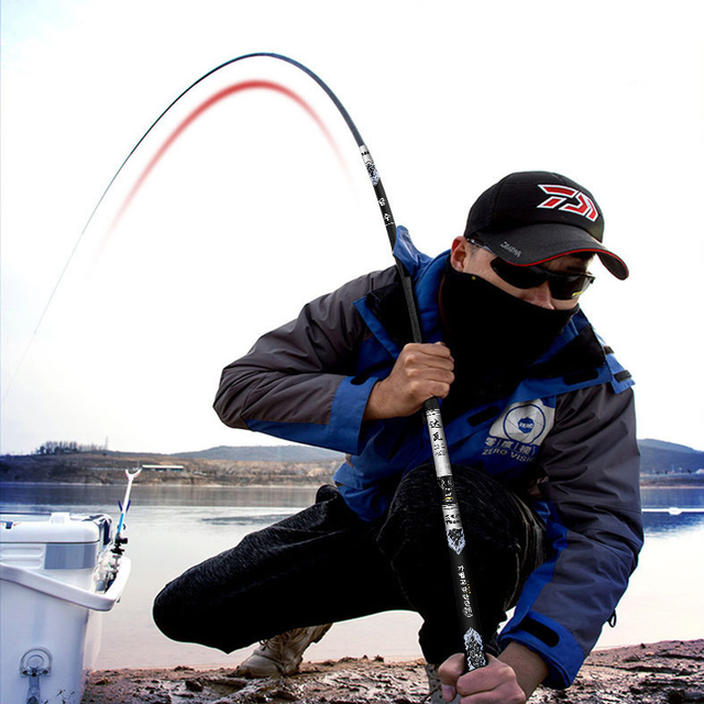 Fishing Rod BLTLYX Extra Long High Carbons Power Hand Pole Fishing Rod Ultra Hard Super Light Telescopic Rod Stick Spare Tip
