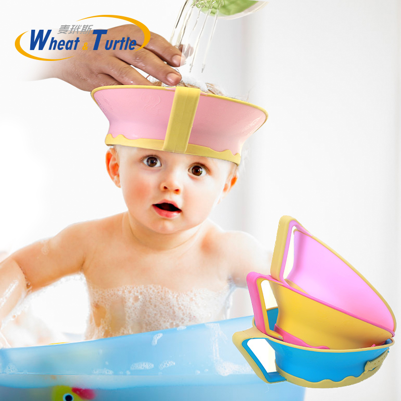 Baby <font><b>Kids</b></font> <font><b>Bath</b></font> <font><b>Cap</b></font> Visor <font><b>Hat</b></font> Adjustable <font><b>Shower</b></font> <font><b>Shampoo</b></font> Protect Eye Ears <font><b>Hair</b></font> <font><b>Wash</b></font> Shield Waterproof Splashguard for Children In image