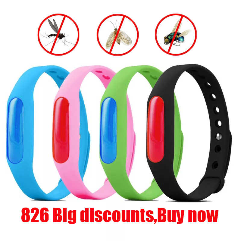 5pcs Colorful Environmental Protection Silicone Wristband Summer Mosquito Repellent Bracelet Anti-mosquito Band christmas gift X