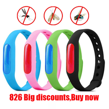 цены 5pcs Colorful Environmental Protection Silicone Wristband Summer Mosquito Repellent Bracelet Anti-mosquito Band christmas gift X