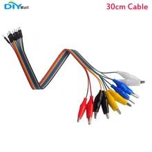 10PCS/set Alligator Clip to Male Jumper Wire Bundle 30cm Cable for Arduino Micro:bit