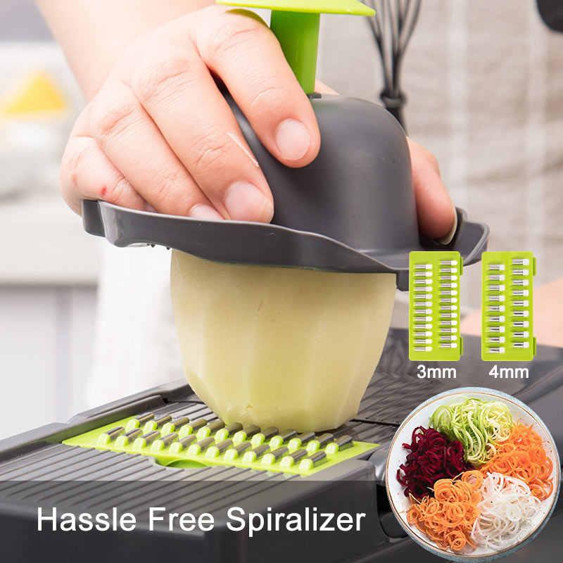 Multifunktionale Gemüse Cutter Obst Werkzeug Kartoffel Masher Ricer Gemüse Mandoline slicer Peeler Cutter Karotten Shredder Reibe