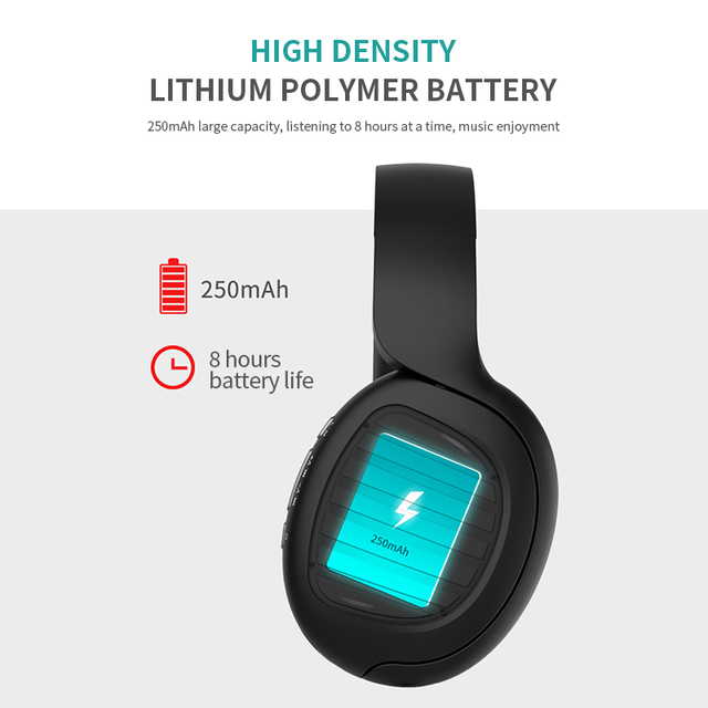 Wireless Bluetooth 5.0 Noise Cancelling Headphone Stereo -Foldable -Gaming Headset  4