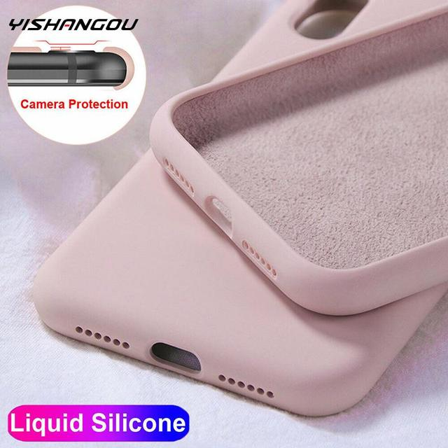 YISHANGOU Case For Apple iPhone 11 Pro Max SE 2 2020 6 S 7 8 Plus X XS MAX XR Cute Candy Color Couples Soft Silione Back Cover
