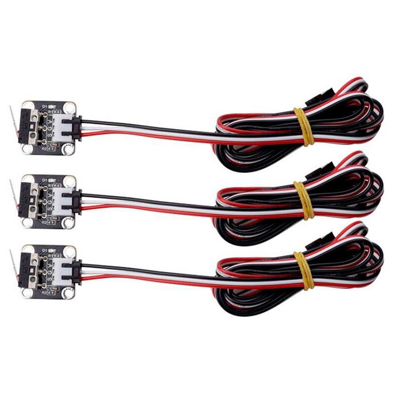 3 uds. De interruptor de límite Endstop, Control de enchufe CNC para rampas 1,4, Kits de impresora 3D, CR-10, CR-10S, CR-S4, Tevo, Tarantula, Tornado
