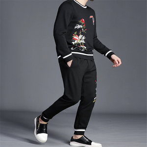 Image 2 - winter Fitness Tracksuit Hoodies Sets Casual Mens Clothing 2 pcs