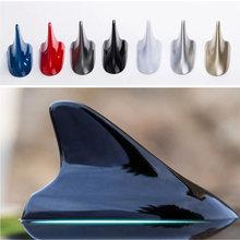 Carro universal barbatana de tubarão antena rádio do carro antenas fm/am sinal de proteção aérea estilo do carro telhado do carro decoração adesivo base