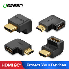 Ugreen HDMI Adapter 270 90 Degree Right Angle Male to Female Cable Converter 4K HDMI Extender for PS4 HDTV HDMI Connector(China)