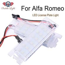 цена на 2Pcs Car LED Number License Plate Light Lamps For Alfa Romeo 147 156 159 166 Brera Giulietta Mito GF Spider