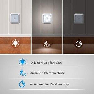 Image 5 - 新6led赤外線pirモーションセンサキャビネットライトワイヤレス検出器壁ランプ自動オン/オフクローゼ寝室の照明