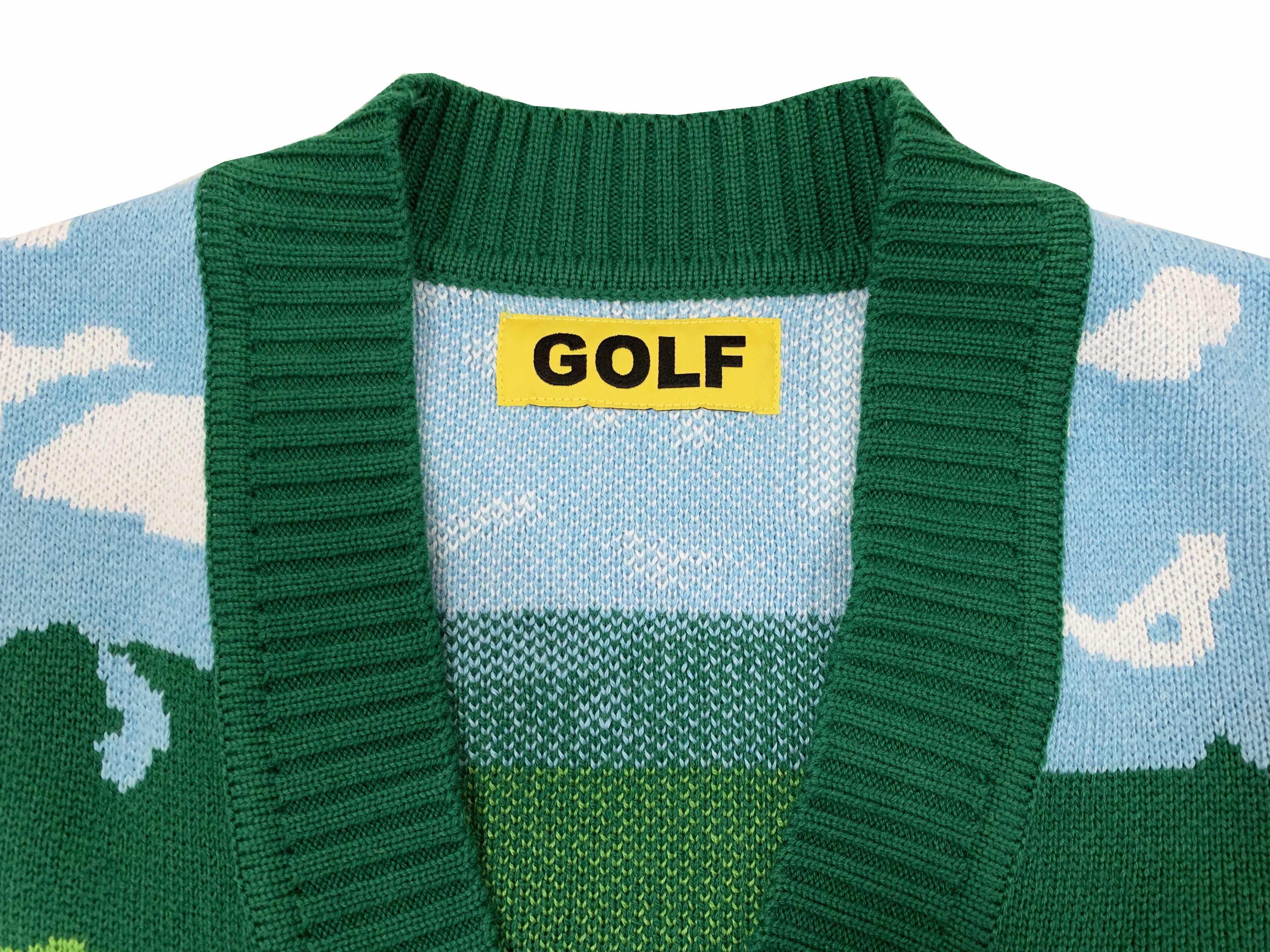 New Luxury Men Golf Flower Le Fleur Tyler The Creator Landscape Casual Sweaters Cardigan Asian Plug Size High Drake M14 Aliexpress