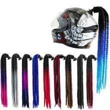 Hot new FreeStyle Motorcycle Helmet handmade Dreadlocks Decoration Punk Dirty Braid Motocross Racing for All Riders Man Women