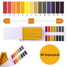 80 Strips/pack PH 1-14 Litmus Paper PH Tester Papers Universal Indicator Paper Test For Water Saliva Water Urine Test