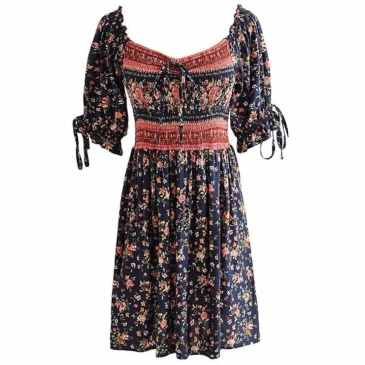 Женское платье с цветочным принтом gypsylady винтажное мини