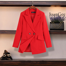 Plus size suit 2020 spring and autumn high-end women's blazer Casual Loose Double-Breasted Jacket Feminine Office coat