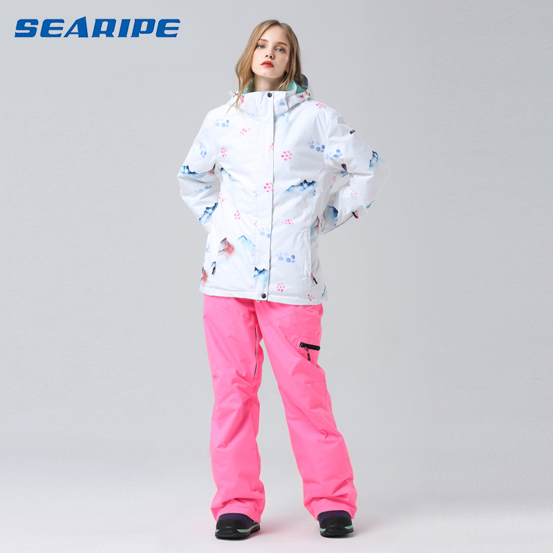2019 Ski Suit Women Snowboard Suit Female Winter Suit Skiing Sport Suit Snowboard Snow Suit Ski Jacket Women Snow Pants Snowsuit