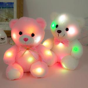 Toys Lighting Teddy Gifts Glowing Plush Bear Luminous Children Birthday White for Xmas