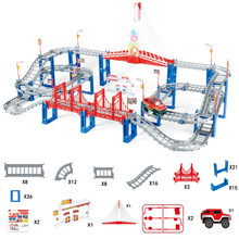 Diy trilha ferroviária carro conjunto universal acessórios rampa virar estrada ponte pista carro de corrida brinquedos presente para crianças educacional playset