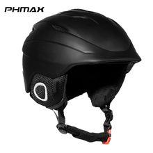 Kask narciarski dla dorosłych PHMAX Winter mężczyźni integralnie formowany kask snowboardowy kobiety utrzymuj ciepło łyżwiarstwo ochronne narciarstwo ochronne