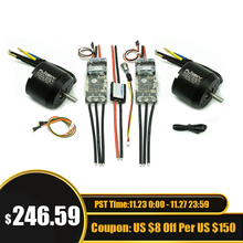 Kit de patineta eléctrica Dual, 6354 motores y ESC4.12 280A, interruptor antichispa, Motor de 2450W y Combo ESC