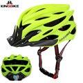 KINGBIKE vélo cyclisme casques route montagne vtt vélo casque ultra-léger dans-moule avec visière titane respirant casque de vélo