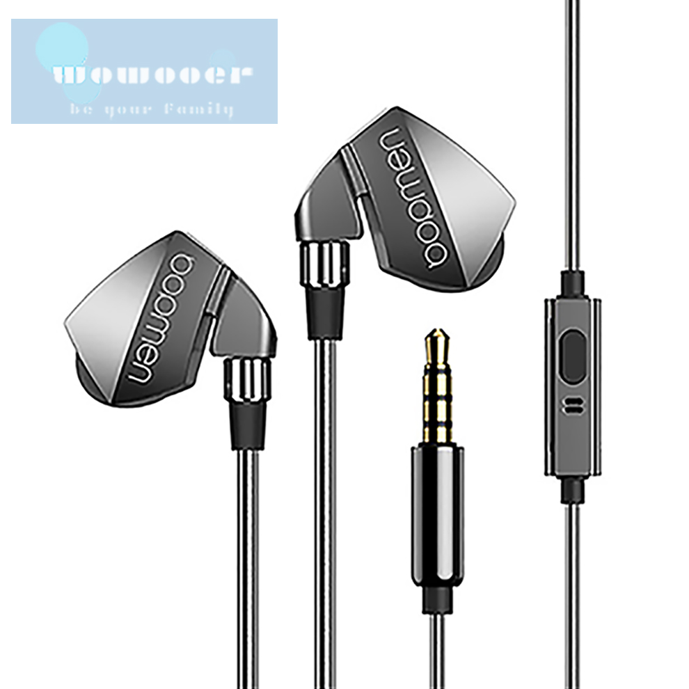 Earphones High Sound Insulation High Resolution with Mic and Remote Control High Sound Quality 3.5mm Plug In-Ear Headphones image