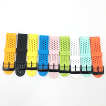 24MM Watch Band For Suunto 9 / 9 Brao / D5 / Spartan Sport HR Baro Silicone Bracelet Quick Release Strap Rubber Smart Watchband