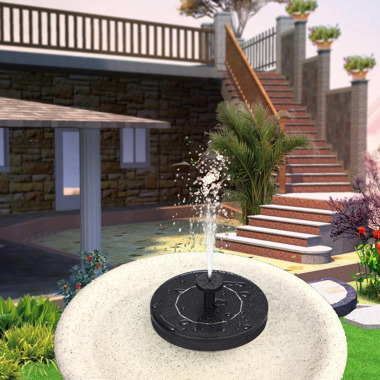 6V Solar Powered Fountain Garden Pool Pond Solar Panel Floating Fountain Garden Decoration Water Fountain solar fontein