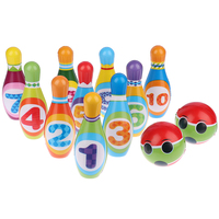 Bowling Toy Set Toddler Colorful Games Home Early Teaching Educational Smooth Funny Non Toxic Sports Indoor Outdoor