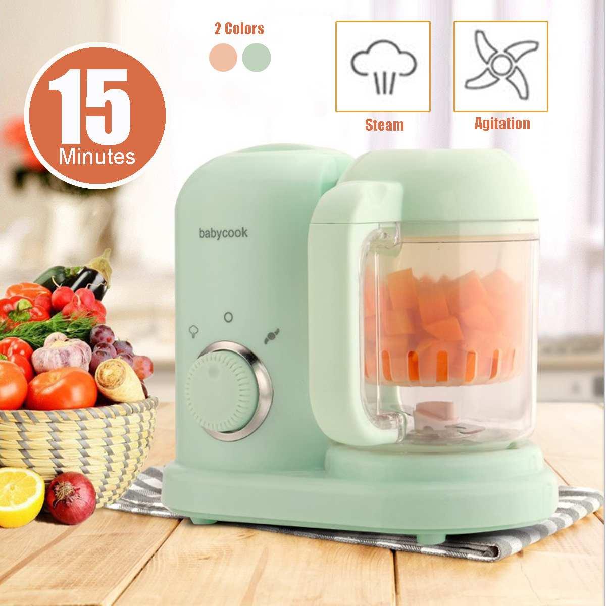 Becornce Baby Food Cooking Maker Steamer 220V 50Hz Multifunction Mixing Grinder Blenders Processor 190ml Shatterproof 2 Colors
