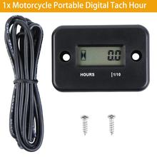 Motorcycle Portable Digital Tach Hour Meter Gauge LCD for 4 Stroke Gas Engine Offroad Panel Hour ATV Motorcycle Generator Bike new timer control panel gauge hour meter 285 9075 for 320c 320d