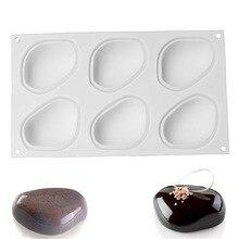 Силиконовые инструменты для украшения торта Формы для выпечки формы для выпечки шоколадных тортов десерт эллиптические формы галька камень