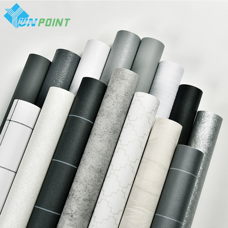 PVC Wallpaper Self Adhesive College Dormitory Waterproof Sticker Nordic Style Gray Wall Stickers Bedroom Decoration Wallpaper