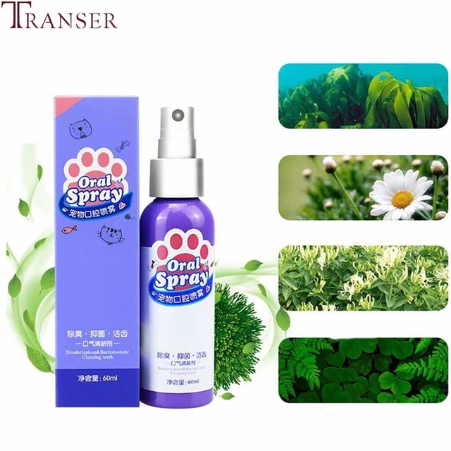 Pet Products 60ml Pet Teeth Clean Breath Cleaning Freshener Dog Cat Oral Spray Pet Health Care Mouth Cleaner 9904