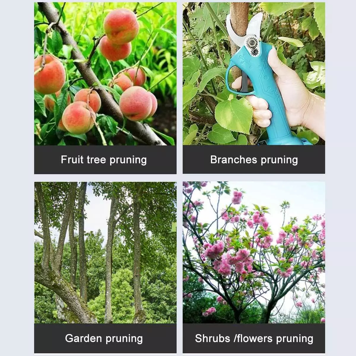 Tools : Electric Pruner Pruning Shear Garden Tree Bonsai Pruning Shears Power Tool For Makita 18V-21V Battery Branch Cutter Rechargeable