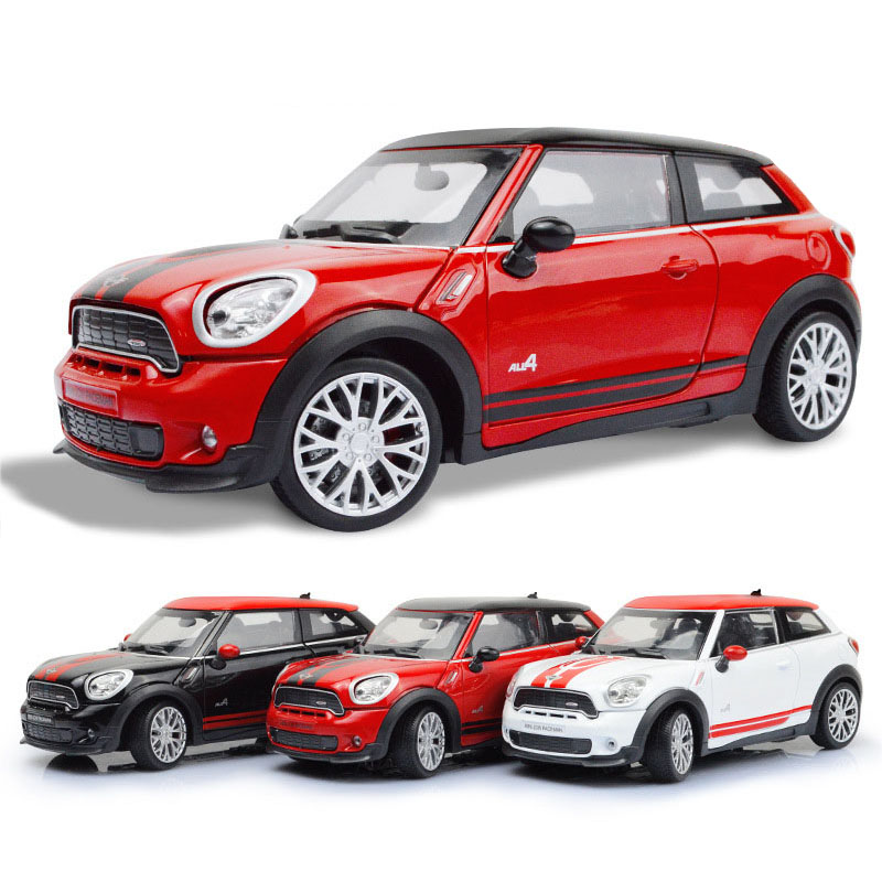 1:24 Diecast Toy Car Model Collection Metal For Simulation MI-NI Alloy Car Toy Doors Open For Boys Children Gift Decoration Car