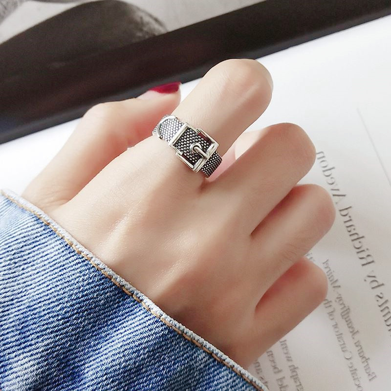 Vintage Silver Color  Belt Rings For Women Statement Jewelry Finger Ring anillos mujer bijoux 3