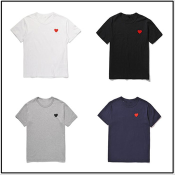 (Have eyes)Fashion Couple T-Shirt 2020 Casual Embroidery Single Love-Heart Breathable Tshirt Casual Summer Outfits For Man Women