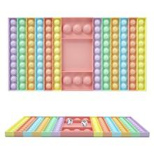 Big Pops jego gra zabawka spinner Rainbow szachownica Push Bubble Popper Fidget zabawki sensoryczne rodzic-dziecko Popet interaktywne gry zabawka tanie tanio CN (pochodzenie) MATERNITY W wieku 0-6m 7-12m 13-24m 25-36m 4-6y 7-12y 12 + y 18 +