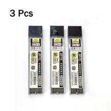 Pencil-Box Mechanical-Pencil-Refill Lead-2b Graphite Plastic Automatic 3pcs Promotion