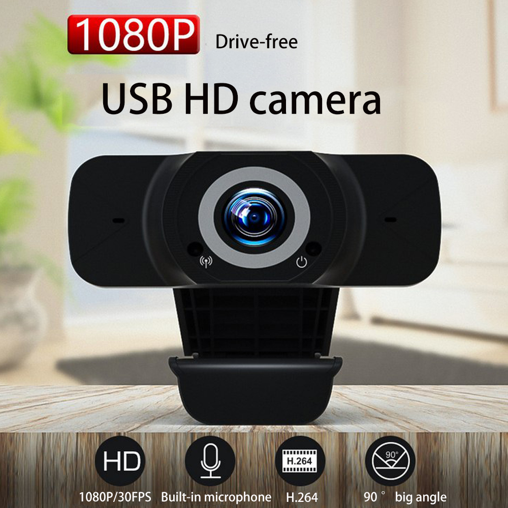 Full HD 1080P Webcam USB Mini Computer Camera Built-in Microphone Video Webcam For Laptops Desktop Webcam Camera