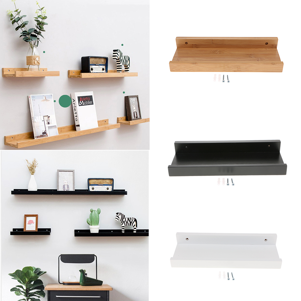 Kitchen Floating Shelves Wall Mounted Wooden Rack Decor For Room Kitchen Storage And Display Diy Hanging Shelves Decorative Shelves Aliexpress