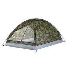 TOMSHOO namiot kempingowy dla 2 osób pojedyncza warstwa odkryty przenośny kamuflaż Camping namiot wędkarski przenośne wodoodporne namioty