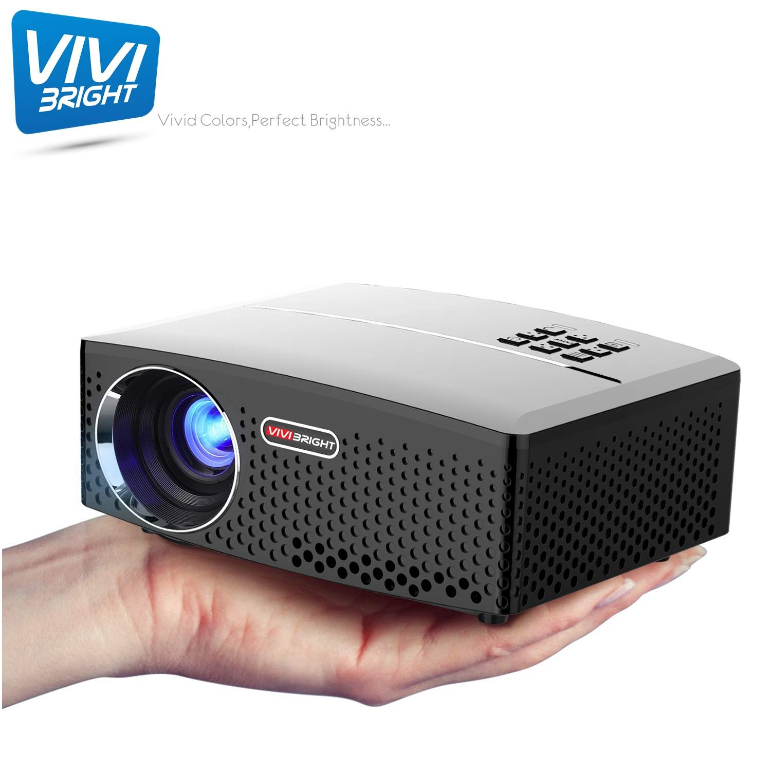 Vivibright Wireless Projector 1920x1080p Micro Lumens Mini Portable WIFI Home New 1800