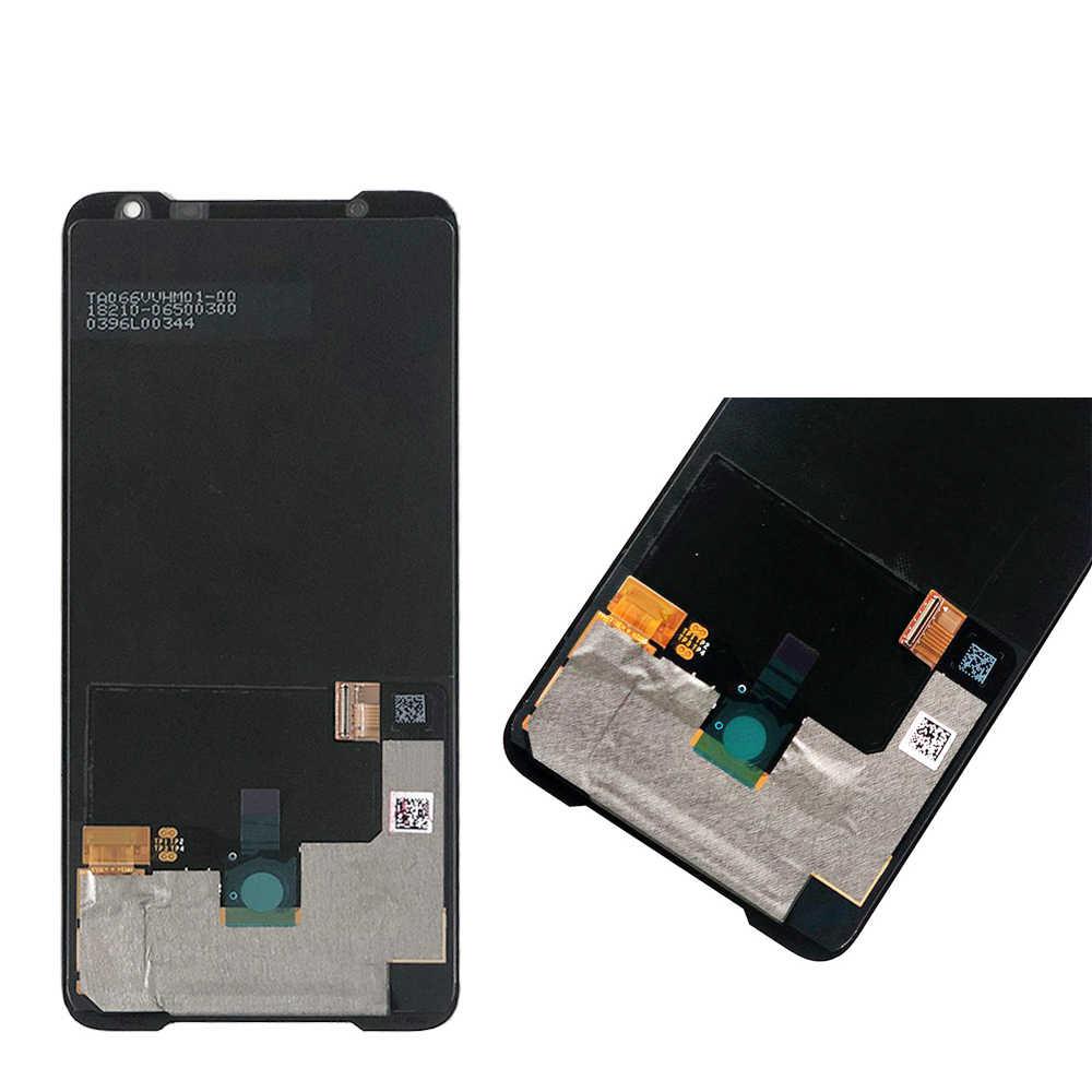 "Original สำหรับ ASUS ROG โทรศัพท์ 2 Phone2 PhoneⅡ ZS660KL AMOLED 6.59 ""หน้าจอ LCD + TOUCH Digitizer ชุดเปลี่ยน"