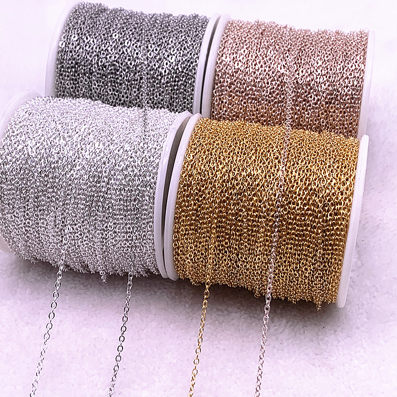 5yards Golded/silvered/Bronze Plated Necklace Chain for Jewelry Making Findings DIY Necklace Chains Materials Handmade|Jewelry Findings & Components|   - AliExpress