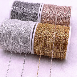 5yards Golded/silvered/Bronze Plated Necklace Chain for Jewelry Making Findings DIY Necklace Chains Materials Handmade